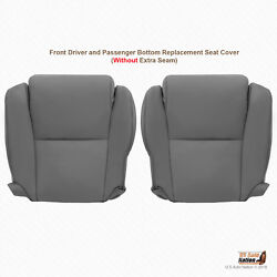 Fits 2007 To 2013 Toyota Sequoia Left And Right Bottoms Leather Seat Cover Gray