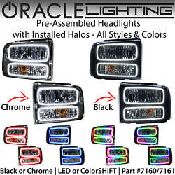 Oracle Pre-assembled Halo Headlights For 05-07 Ford F250 Excursion All Colors