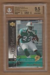 Ronnie Brown 2005 Upper Deck Promo Rc National Bgs 9.5 Nscc Graded Rookie /750