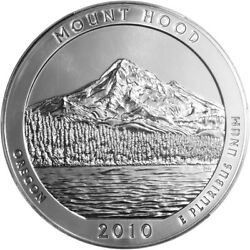 2010 5 Oz Mount Hood National Forest Silver - United States Mint