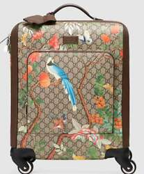Gucci Tian Bird Flower Pattern Caster Travel Suit Case Bag Rare Design Never Use