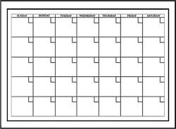 Wall White Board Monthly Calendar Planner Peel Stick Dry Erase Marker Office 24quot;