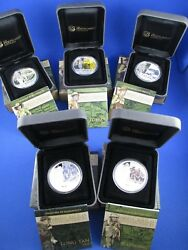 2011 - 2012 Famous Battles In Australian History - Complete Set 5 Silver Coins