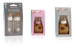 Hevea Planet Baby Glass Feeding Bottles With Natural Rubber 2 Pack Bpa Free