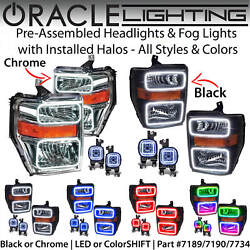 Oracle Halo Headlights And Fog Lights For 08-10 Ford F250 F350 F450 All Colors