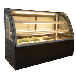 47inch Refrigerated Bakery Display Case 220v Cake Pie Showcase Countertop Case