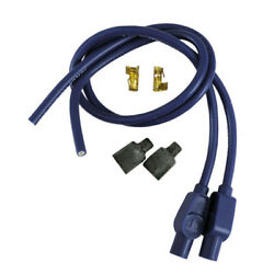 Taylor Ignition Leads 8mm 180anddeg Plug Blue For Harley-davidson With Contact