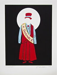 Gertrude Stein The Mother Of Us All Limited Edition Lithograph Robert Indiana