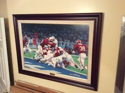Framed Alabama Canvas Second And Twenty-six By Daniel Moore - Sold Out 59/60