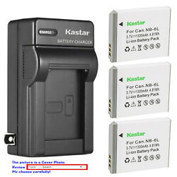 Kastar Battery Wall Charger for Canon NB 6L NB6LH CB2LY Canon PowerShot SX530 HS