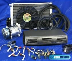 A/c-kit Universal Under Dash Evaporator 450 Hammered Grey And Electric Harness 5v