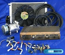 A/c Kit Universal Under Dash Evaporator 450 5v Kit 450-1b Br And Electric Harness