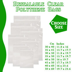 Xx Large Grip Seal Zip Lock Polythene Resealable Clear Plastic Bags 1-100,000