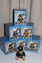 New Complete Set - Nascar Teddy Bears Bank Action Collectible