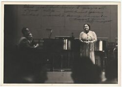 Rare Signed Photo - African American Soprano - Dorothy Maynor 1940s Autograph
