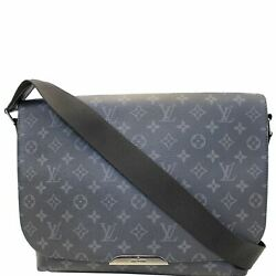 LOUIS VUITTON Explorer MM Monogram Eclipse Messenger Crossbody Bag