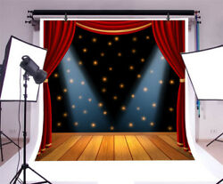 10x10Ft Behind The Curtain While Public Is Waiting Photography Background Vinyl