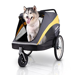 ibiyaya Large Pet Stroller for one Large or Multiple Medium Dogs with air Filled