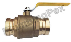 3 Inch Press Ball Valve Brass Lead Free 250 Cwp- 2 Pack