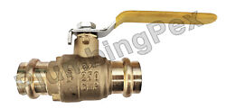 3/4 Inch Press Ball Valve Brass Lead Free 250 Cwp- 10 Pack
