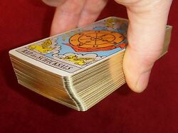Ancien Tarot Rider Waite Smith Deluxe 1971 Fortune Telling Card Allemand Vintage