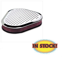 Billet Specialties 15720 - Ball Milled Triangle Air Cleaner - Polished