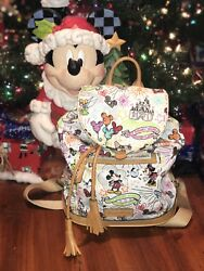 **Rare Authentic Disney Dooney And Bourke Sketch Backpack
