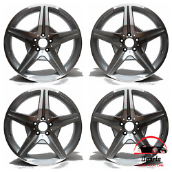 Set Of 4 Mercedes Cls550 2012 19 Factory Original Staggered Wheels Rims