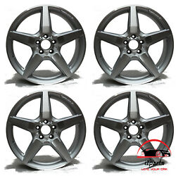 Set Of 4 Mercedes Cls550 2012 2013 2014 19 Factory Oem Staggered Wheels Rims