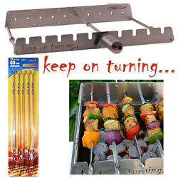 9 Skewer Motor Operated Rotisserie Rack Accessory W/ Usb Port For Gas Grills