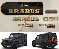Set Of Logo Emblems Covered By Real Gold 24 сrt For Mercedes-benz G-class W463