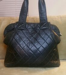 Latico Leathers Quilted Leather Tote Bag