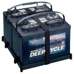 T-h Marine Dual Battery Tray 27 Series With Strap Dbh-27p-dp