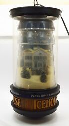 Original Icehouse Beer Motion Rotating Light Plank Road Brewery W/rounded Bottom