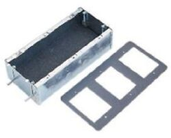 Clipsal Metal Wall Mounting Box 3-gang, Sliding Nuts, Fire Rated Aust Brand