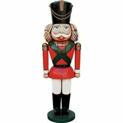 Toy Soldier Nutcracker Life Size Resin Christmas Statue Prop Display Yard Decor