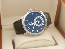 Ebel Classic Hexagon Gmt Leather Strap Automatic Menand039s Watch E9301f61 / A139751