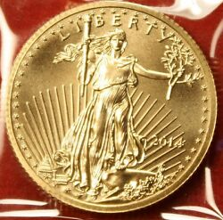 2014 AMERICAN GOLD EAGLE 14 oz .917% FINE GOLD BU GREAT COLLECTOR COIN GIFT