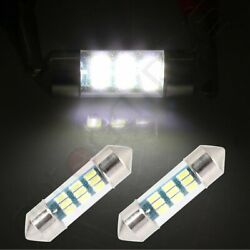 2Pcs 31mm White Car 3014-9-SMD LED Festoon Interior Bulb Lights for Replacement