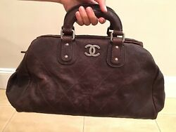 Authentic Quilted Doctors Tote - Brown