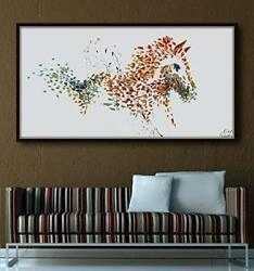 Horse 67 Animal Painting Original Painting On Canvas Warm And Cold Tones