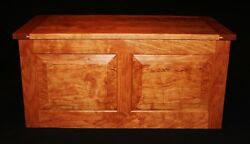 Handmade Cherry Curly Flame Hope Chest With Cedar Lining