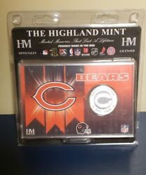Highland Mint Chicago Bears History Of The Chicago Bears Coin Card Medallion