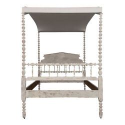English Four-Poster Painted Tester Bed Circa 1880