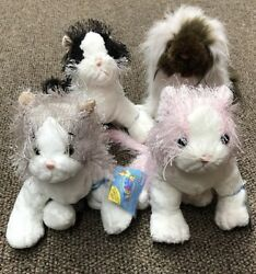 Webkinz Lot Of 4 Cats Grey CatPink amp; White CatBamp;W CatHimalayan W Sealed Code.