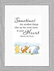 Winnie the Pooh Nursery Wall Art Decor Quote Picture Keepsake Gift A4 Print Only