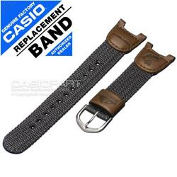 Genuine Casio Watch Band Strap Nylon Leather for Pathfinder PAS 400 PAS 400B 5V $18.94