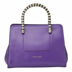 Bvlgari Purple Amethyst Jeweled Serpenti Boston Bag  Designer Bulgari Purse
