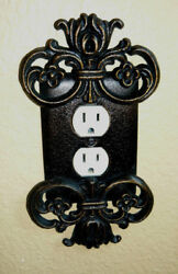 Metal Outlet Wall Plate Cover Old World Medieval Traditional Home Decor Original