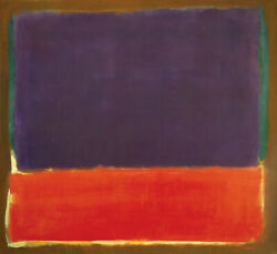 40wx35h Number 14 1951 By Mark Rothko - Violet Red Green Choices Of Canvas
